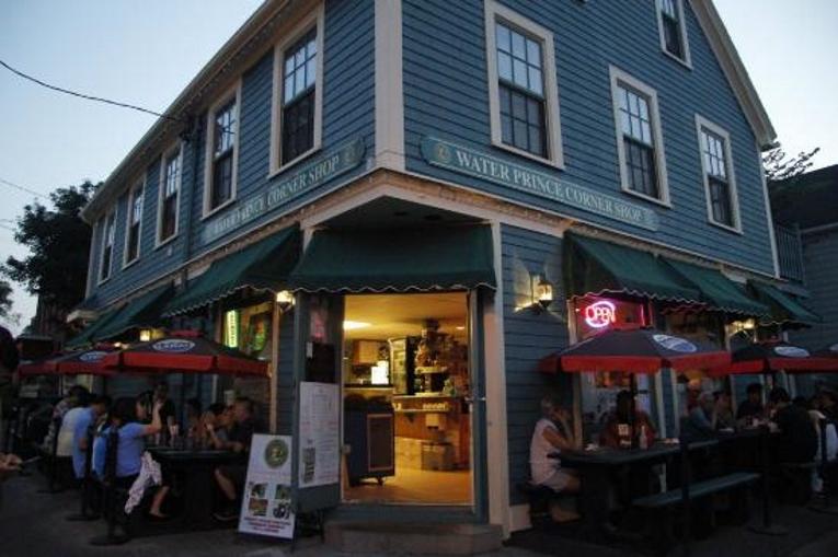 Night Shot of Water Prince Corner Shop