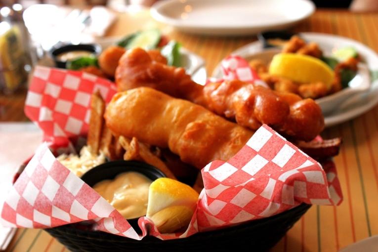Fish & Chips Halibut at Water Prince Corner Shop